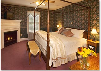 Silver Cascade Room at the newly renovated Riverside Inn in Intervale