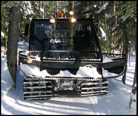 Mt. Washington Valley Ski Touring & Snowshoe Center grooming machine